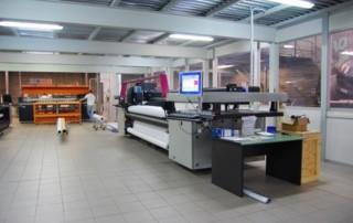 A print shop's industrial printer.