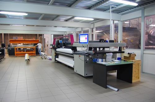 A print shop's industrial printer.