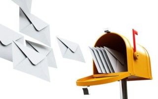 A mailbox and letters.
