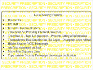 Security Features Listing